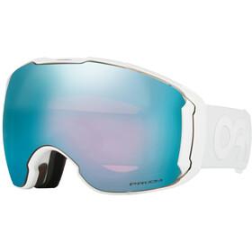 Oakley Airbrake XL Occhiali da neve Uomo, polished white/w prizm sapphire iridium/prizm hi pink iridium